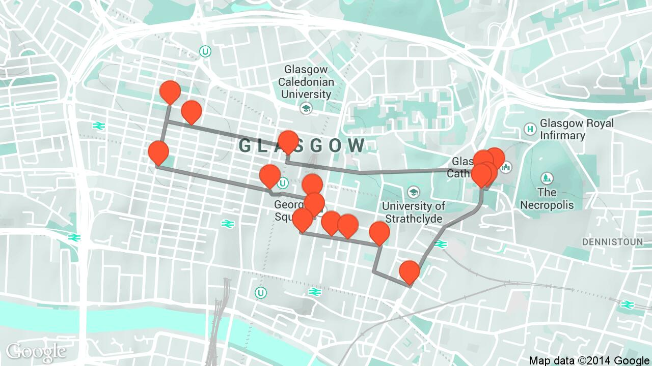 Glasgow travel tour audio guide in Glasgow on Tales and Tours – Tourist Map Glasgow