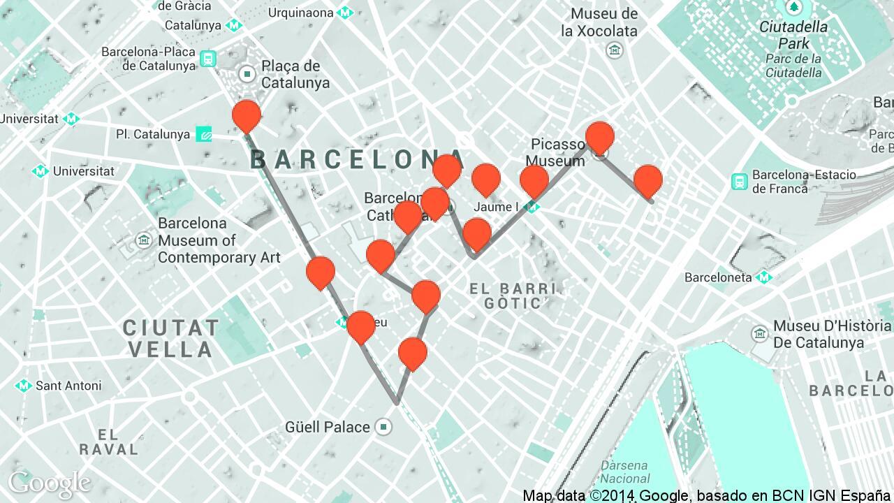 Barri Gotic Ramblas El Born Travel Tour Audio Guide In - Barcelona map guide