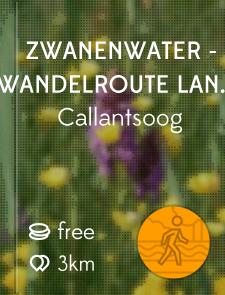 Zwanenwater - Wandelroute langs 1e water