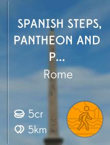 Spanish Steps, Pantheon and Piazza Novana